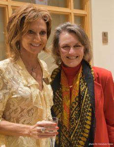 Alyona Ushe poses with BlackRock Board of Trustees member Melanie Kenney Hoffman.