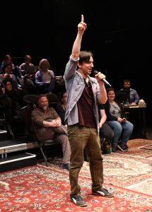 Alexander Strain raises awareness and entertains as The Narrator.
