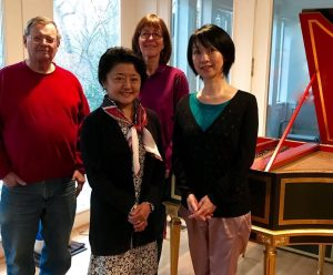 From left: Harpsichord builder and tuner Mark Adler, amateur harpsichordist Mariko Kaizuka, Capriccio Baroque's Carolyn Winter and professional harpsichordist Mayako Sone. Sone will be featured during Capriccio's 2018-2019 Season.