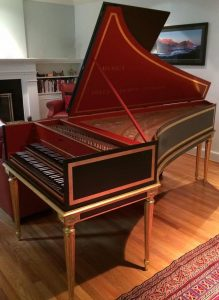 William Dowd built Carolyn Winter's harpsichord in 1972.