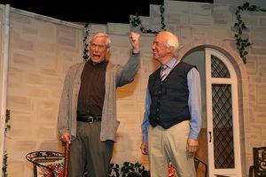 """John Allnutt as Wilf Bond and Peter Harrold as Reggie Paget in """"Quartet."""""""