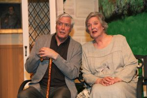 """John Allnutt as Wilf Bond and Angela Cannon as Cissy Robson in """"Quartet."""""""