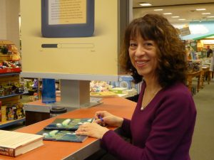 Poet Michele Wolf signed copies of her book at Barnes & Noble in February.