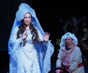 "Love story: Soprano Katie Manukyan portrays the Sea Princess Volkhova and tenor Patrick Cook is Sadko in Bel Cantanti's ""Sadko."""