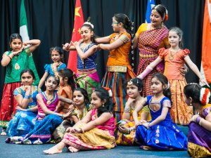 Kuchipudi Dance Academy will present a program of Indian dance at 2:30 p.m.