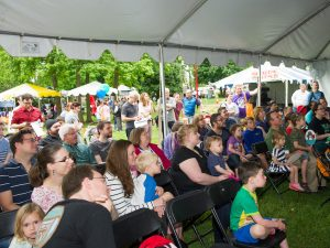 Crowds gather at last year's Gaithersburg Book Festival.