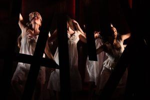 """The girls of Salem dance in the forest in Arthur Miller's """"The Crucible"""" at Olney Theatre Center."""