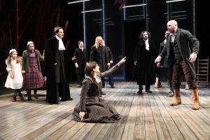 "The cast of ""The Crucible,"" running through May 20 at Olney Theatre Center."