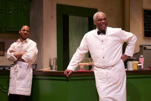 """Ro Boddie (Willie) and Craig Wallace (Sam) in Round House Theatre's current production of """"'Master Harold'…and the Boys."""""""