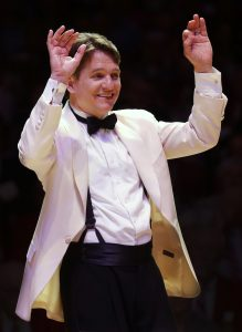 Keith Lockhart, the Boston Pops Esplanade Orchestra's music director, also plays piano and clarinet.