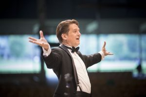 Conductor Keith Lockhart marks his 24th year at the helm of the Boston Pops.