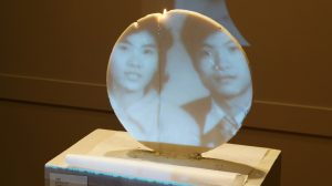 """""""1987,"""" a multimedia work on display as part of Astrid Dong's exhibition, """"Wick + Limb."""""""