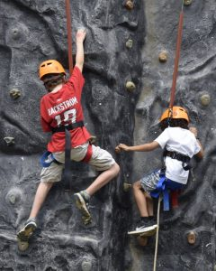 Rock climbing is one of the popular events at the Strawberry Festival.