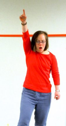 "Over the rainbow: ArtStream performer Ana Bradley dancing at auditions for ""Happy Again."""