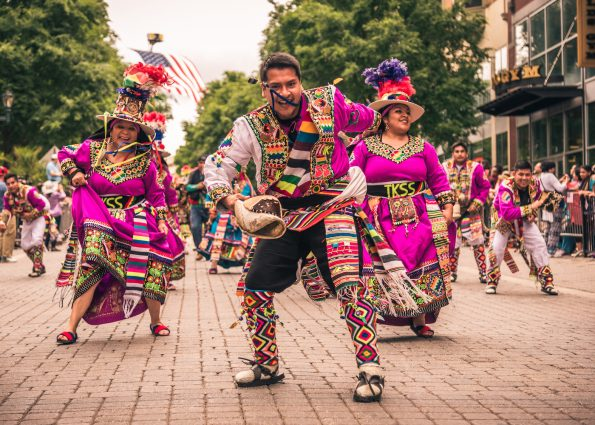 Dancers add color and spice to the Hometown Holidays Festival.