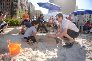 """On """"the beach"""" right in Rockville Town Center."""