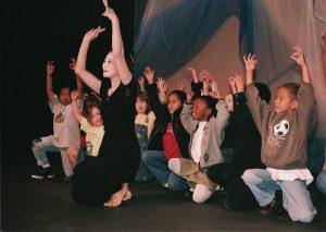 Shizumi Shigeto Manale at a school performance circa 2005.