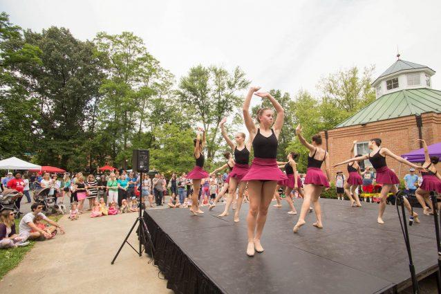 Ballet Arts Studio dancers perform on the Community Stage.