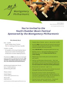 Montgomery Philharmonic Youth Chamber Music Festiv...