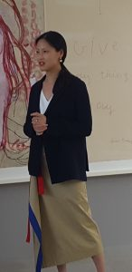 Emily Rales, who co-curated the Louise Bourgeois exhibit, spoke to members of the press during a May 8 tour.