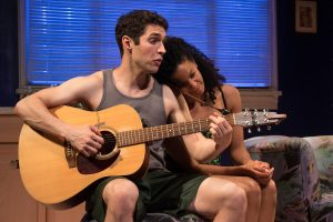 "Love me tender: Elvis impersonator Casey (Zack Powell) serenades his wife Jo (Yesenia Iglesias) in ""The Legend of Georgia McBride"" at Round House Theatre."