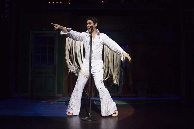 Elvis is in the theater: Casey (Zack Powell) as The King.