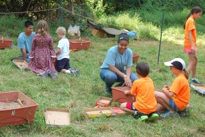 Children explored an archeological site in Brookeville during a past Heritage Days weekend.