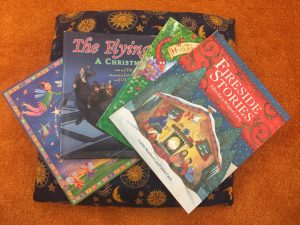 Colorful books to enjoy at World Story Time.