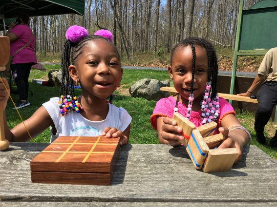 Children have opportunities to learn and play at the Oakley Cabin African American Museum and Park in Olney.