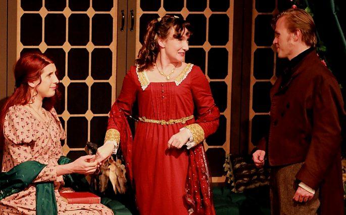 Angela Pirko (Aveline), Laura Rocklyn (Margaret) and Seth Rosenke (O'Conor).