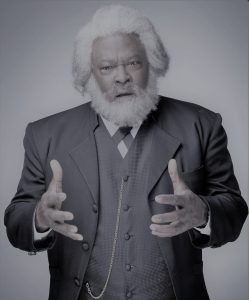 Bill Grimmette as orator and abolitionist Frederick Douglass.