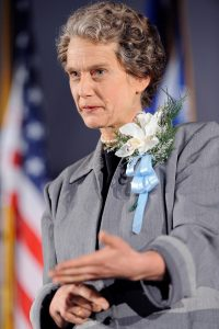 Susan Marie Frontczak as First Lady Eleanor Roosevelt.