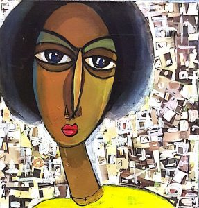 """Guardes"" by Fetun Getachew, who was a wife, mother, artist and art teacher in Ethiopia when the political situation deteriorated in 2011."