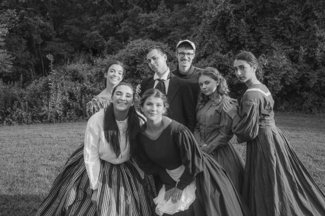 "The cast of ""Little Women,"" from left, Meg March (Hanna Elliot), Beth March (Taylor Litofsky), Jo March (Emily Alvarado), Amy March (Alyssa Herman), Marmee March (Emma Higgins) and Laurie Lawrence (Ben Simon), and Director Gavin Kramar."