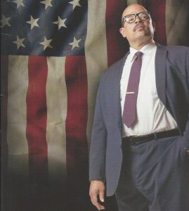 Brian Anthony Wilson as the first African American Supreme Court Justice Thurgood Marshall.
