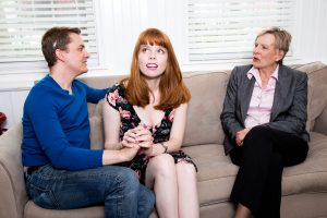 From left, Nick Duckworth as Craig, Ruthie Rado as Melody and Emily Morrison as Hope.