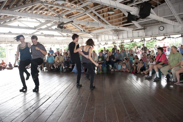 Irish dancers will perform on Monday, Sept. 3, from 1 to 6 p.m., as part of the Irish Music & Dance Showcase at Glen Echo Park's Bumper Car Pavilion.