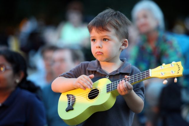 Aspiring musicians of all ages can share the joy of playing the uke.