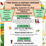 Free Music and Hispanic Heritage Month Festival