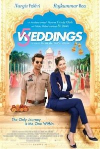 "The feature film ""5 Weddings"" will be shown at 4:30 p.m. on Sunday, Sept. 9 in the Parilla Performing Arts Center."