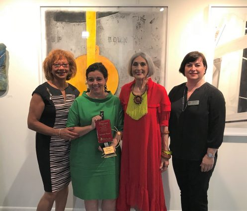 From left, Montgomery County First Lady Catherine Leggett; 2018 Trawick Prize second-place winner Nicole Salimbene, competition creator Carol Trawick and Trawick Prize chair Catriona Fraser at the Sept. 5 Trawick Prize reception.