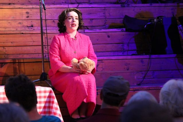 """Shelly Lynn Walsh sings the lullaby """"If I Could See the World (Through the Eyes of a Child)"""" as part of her portrayal of country singer Patsy Cline."""
