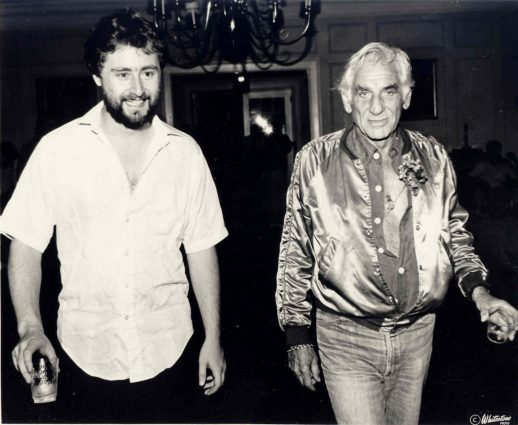 National Philharmonic Conductor Piotr Gajewski with his mentor, Leonard Bernstein, at Tanglewood in 1983.