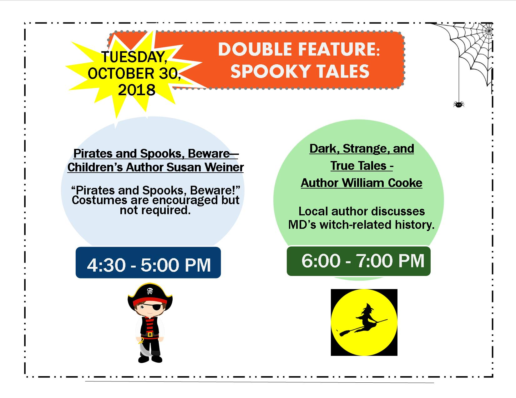 Be Wary Of Studies Incredible Tale Of >> Double Feature Spooky Tales Culturespotmc Com