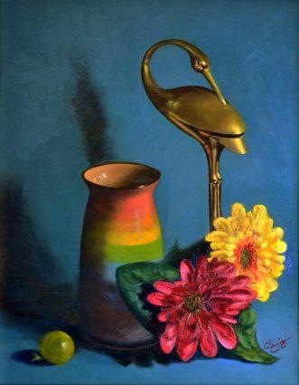 "Craig Higgins' ""Brass Heron,"" photograph"