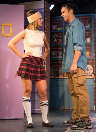 On a break: Patricia Sabulis (Rachel) and Landon Zwick (Ross).