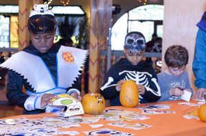 Children will decorate pumpkins at the Fall Frolic on Saturday, Oct. 27 in Glen Echo Park's Spanish Room.