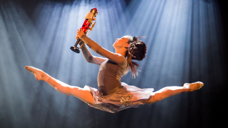 "Troupe Vertigo joins the Baltimore Symphony Orchestra in presenting ""Cirque Nutcracker."""