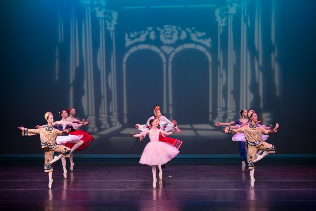 "The Grand Finale of Akhmedova Ballet Academy's ""Nutcracker Night."""