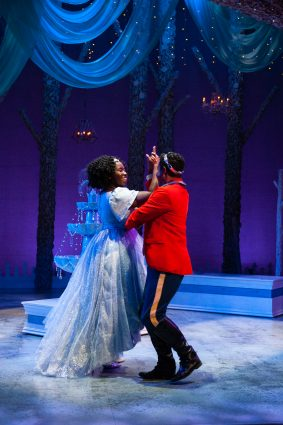 "Awa Sal Secka as Cinderella and Jay Frisby as Prince Jason in Imagination Stage's ""Cinderella."""